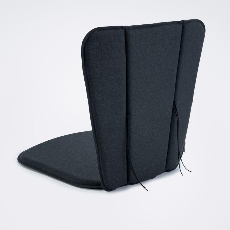 Paon Dining Chair Cushion, Carbon Grey