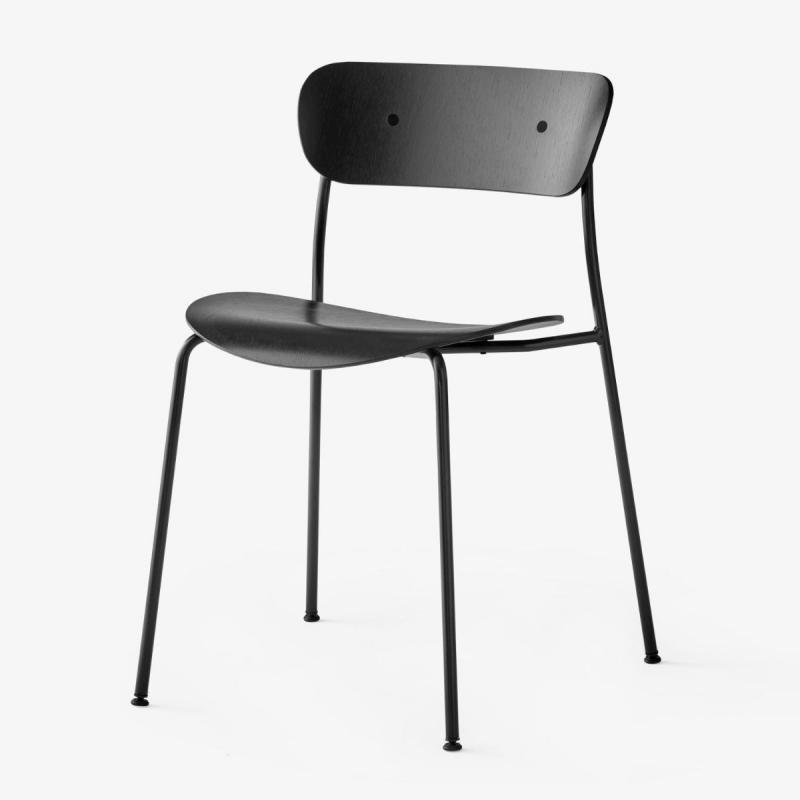 Pavilion Chair AV1, Black Tube Legs