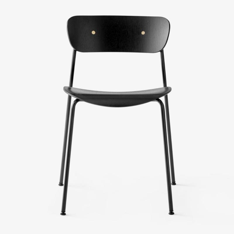 Pavilion Chair AV1, Black Oak Seat / Black Legs