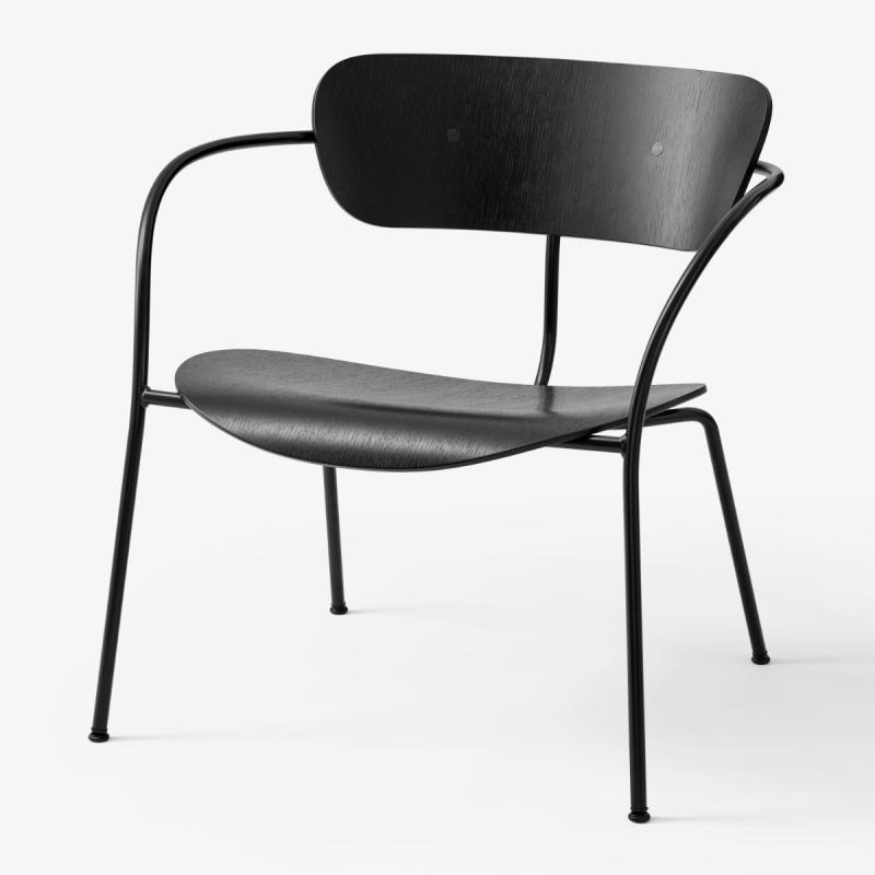 Pavilion Lounge Chair AV5, Black Oak Seat / Black Legs