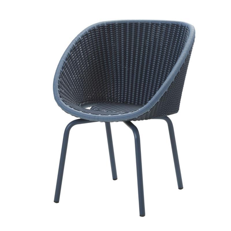 Peacock Chair, Weave, Midnight Blue Seat / Aluminium Legs