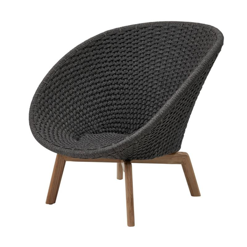 Peacock Lounge Chair, Soft Rope