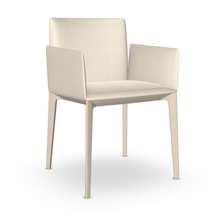 Pillow Armchair, White Upholstery / Beech Frame