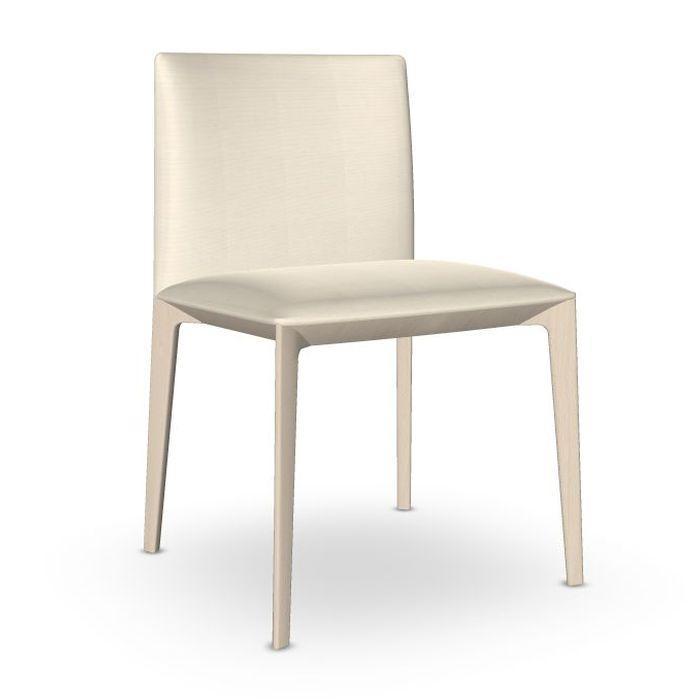 Pillow Chair, White Upholstery / Beech Frame