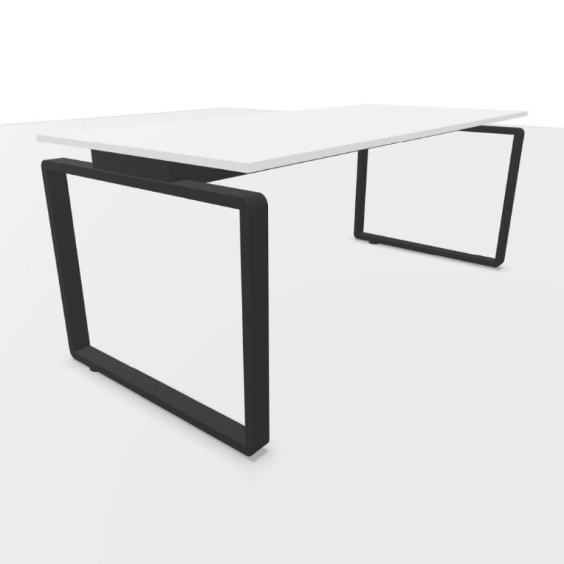 Ping Pong Desk, 180x80cm, White Laminate Top / Anthracite Frame