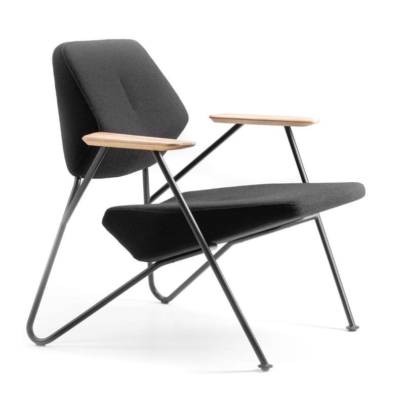 Polygon Easy Chair, Dark Grey