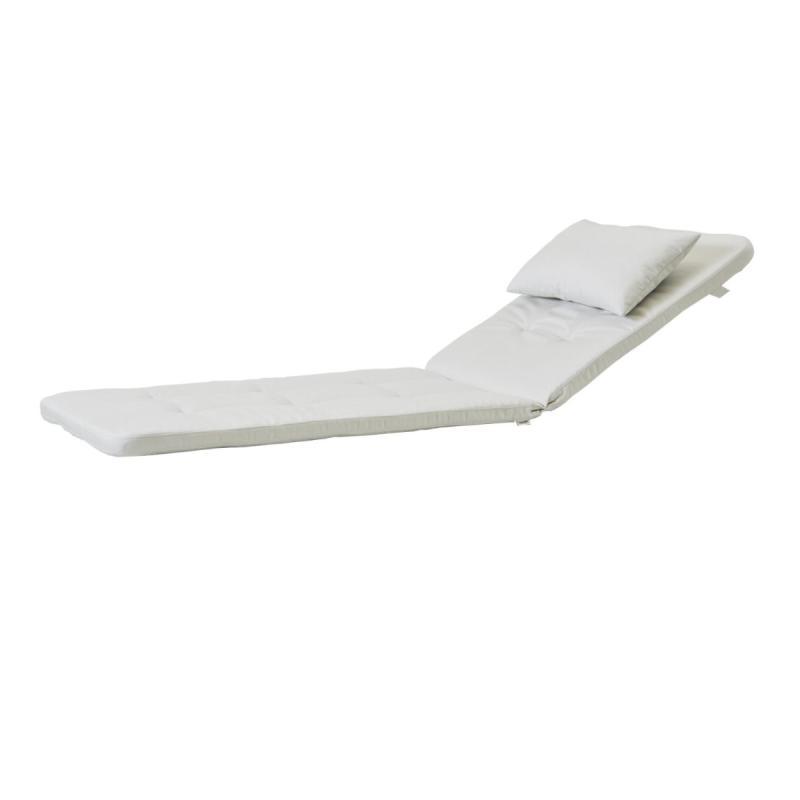 Presley Sunbed, Cushion Set, White