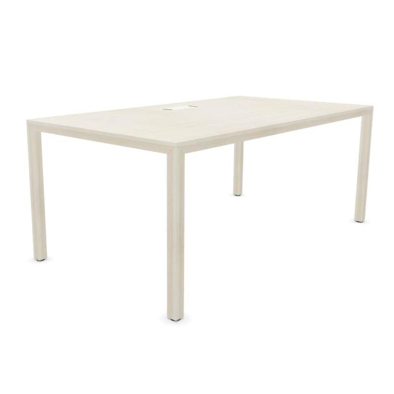 Prisma Individual Desk, 160x80cm, Lime Oak Table Top / Lime Oak Frame