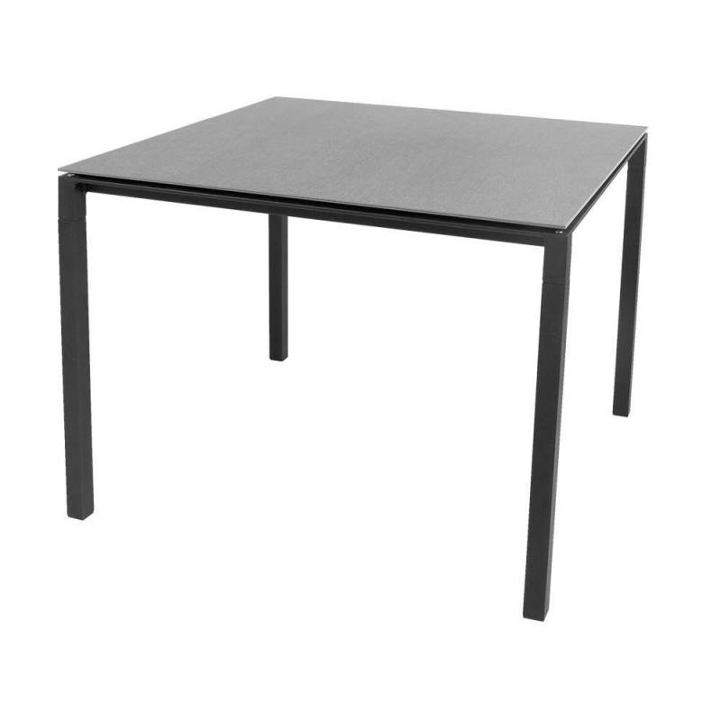 Pure Table, 100x100cm, Lava Grey Base