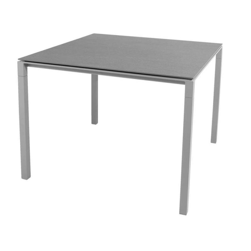 Pure Table, 100x100cm, Light Grey Base
