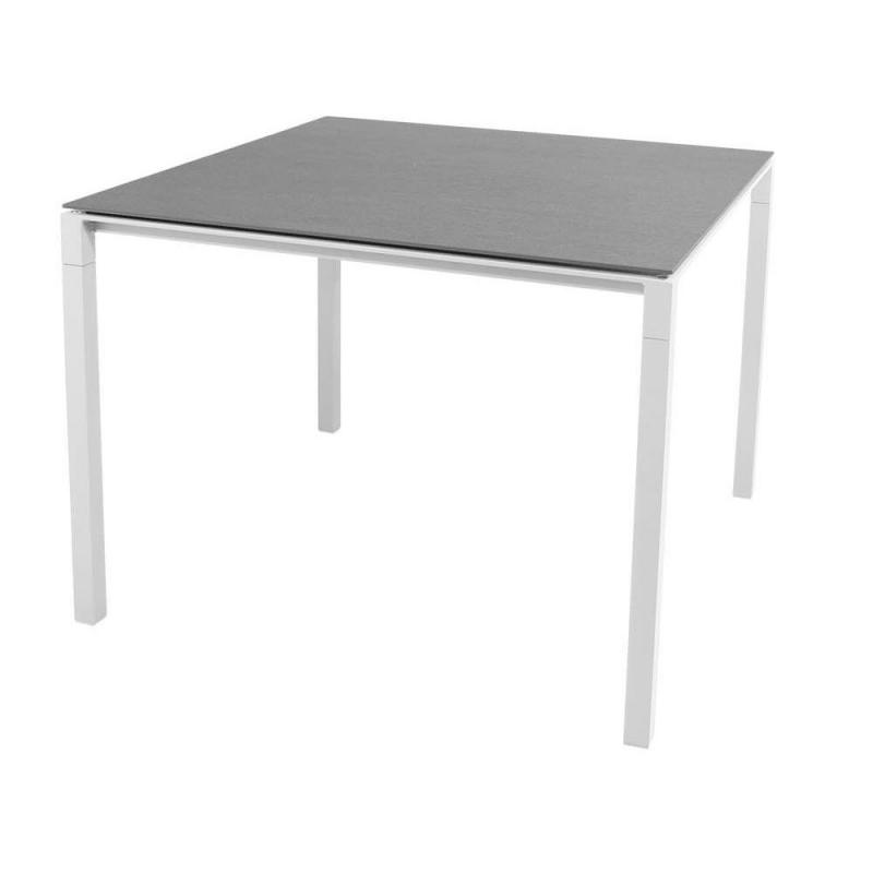 Pure Table, 100x100cm, White Base