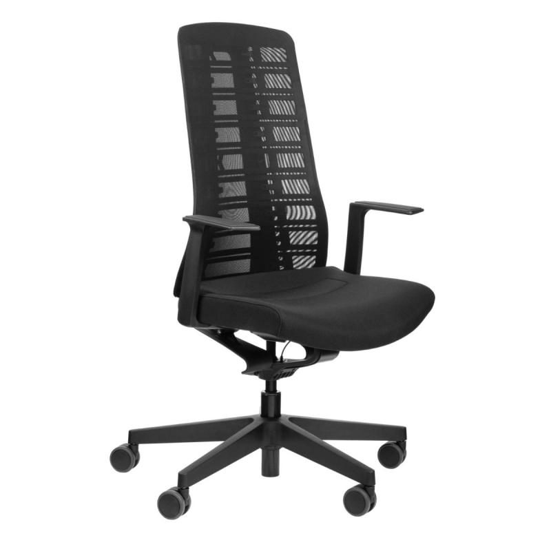 PUREis3 PU213 Office Chair, Mesh Backrest / Black Seat / Black Frame