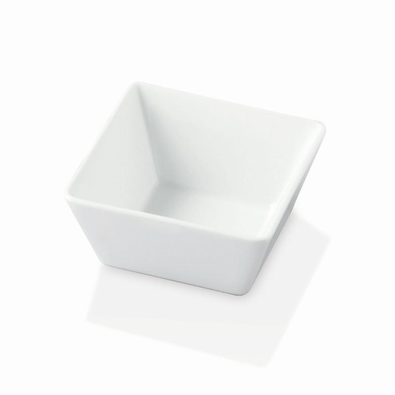 Quadro Stoneware Bowl, Medium, White