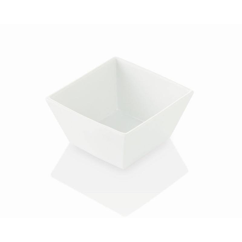 Quadro Stoneware Bowl, Small, White