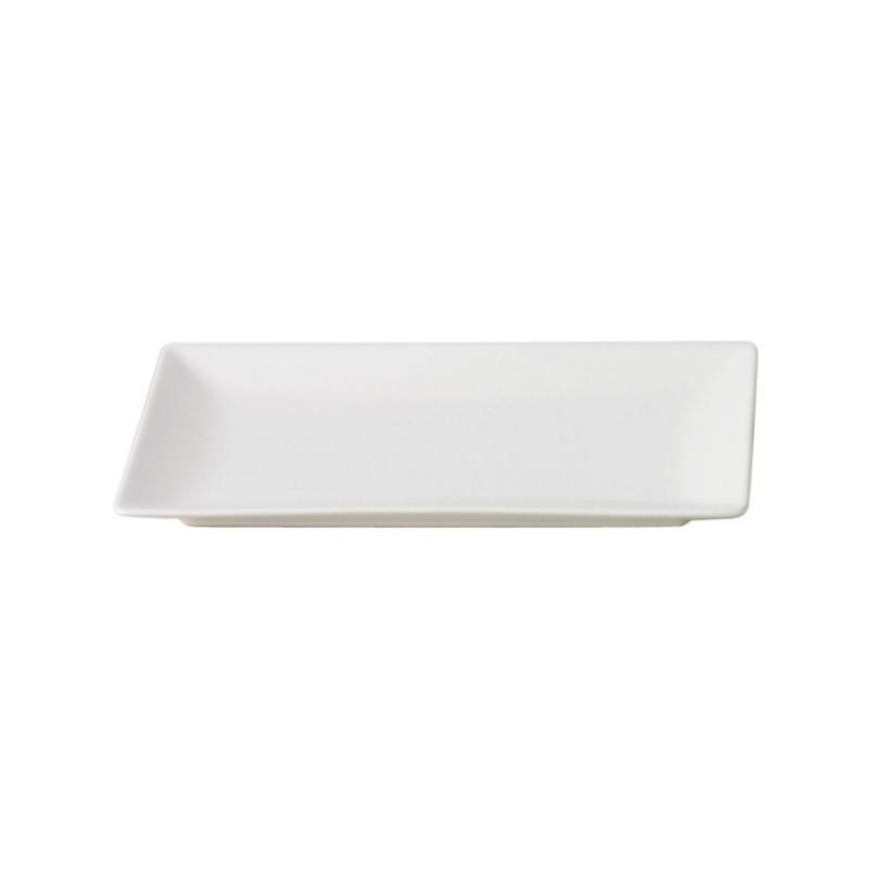 Quadro Stoneware Rectangular Plate, 25x15cm, White