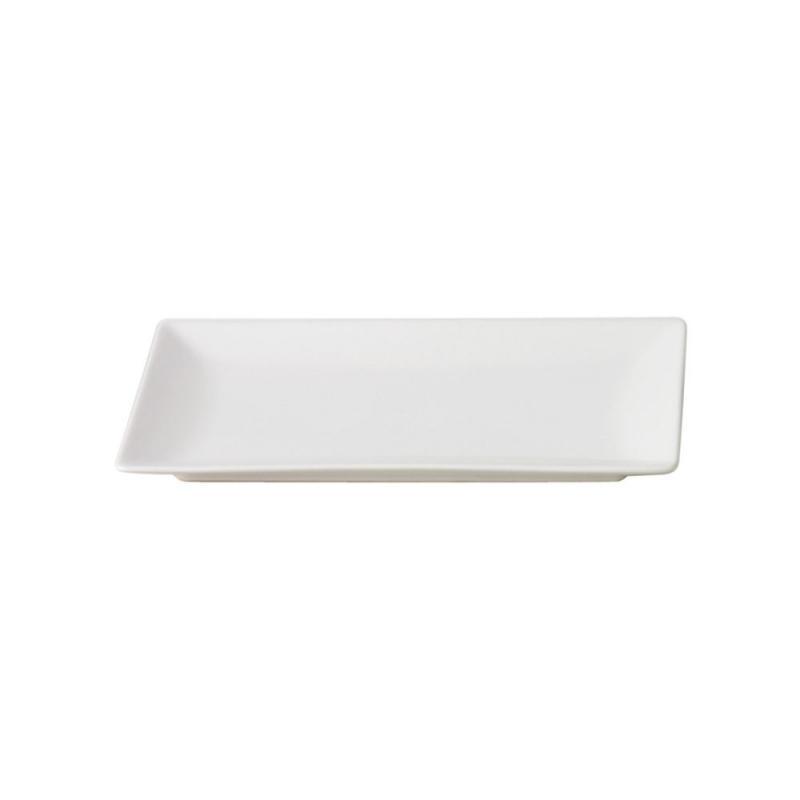 Quadro Stoneware Rectangular Plate, 30x20cm, White