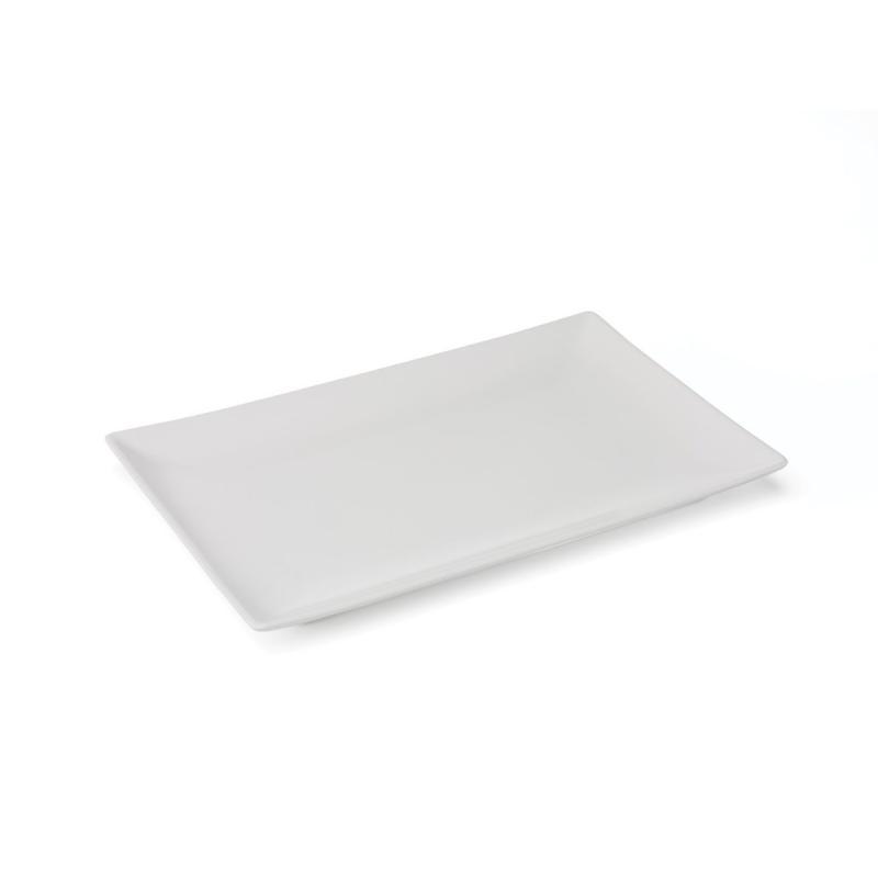 Quadro Stoneware Rectangular Plate, 34x22cm, White