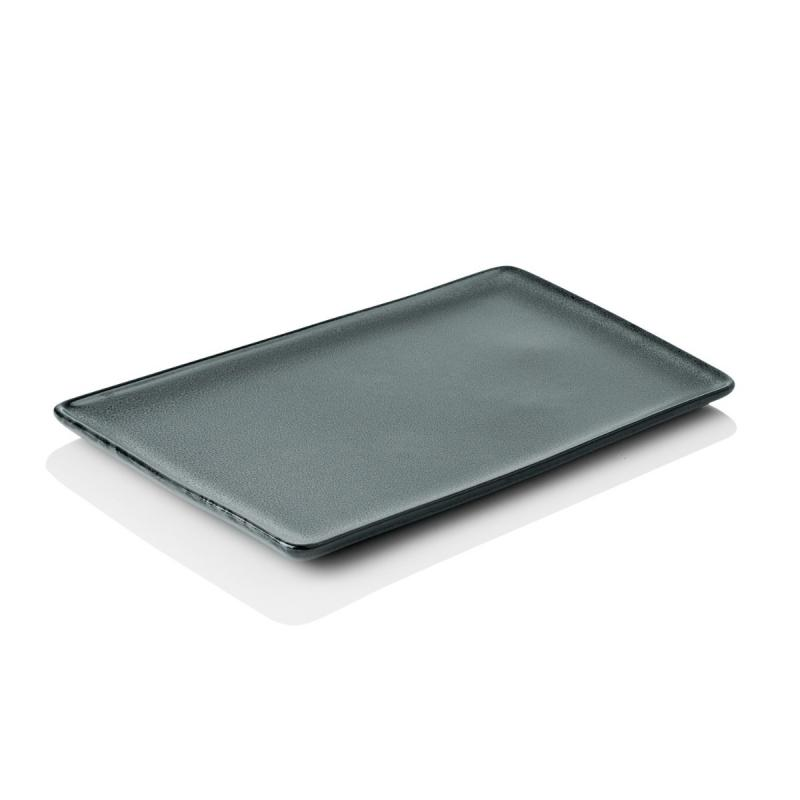 Raw Rectangular Plate, Large, Northern Green