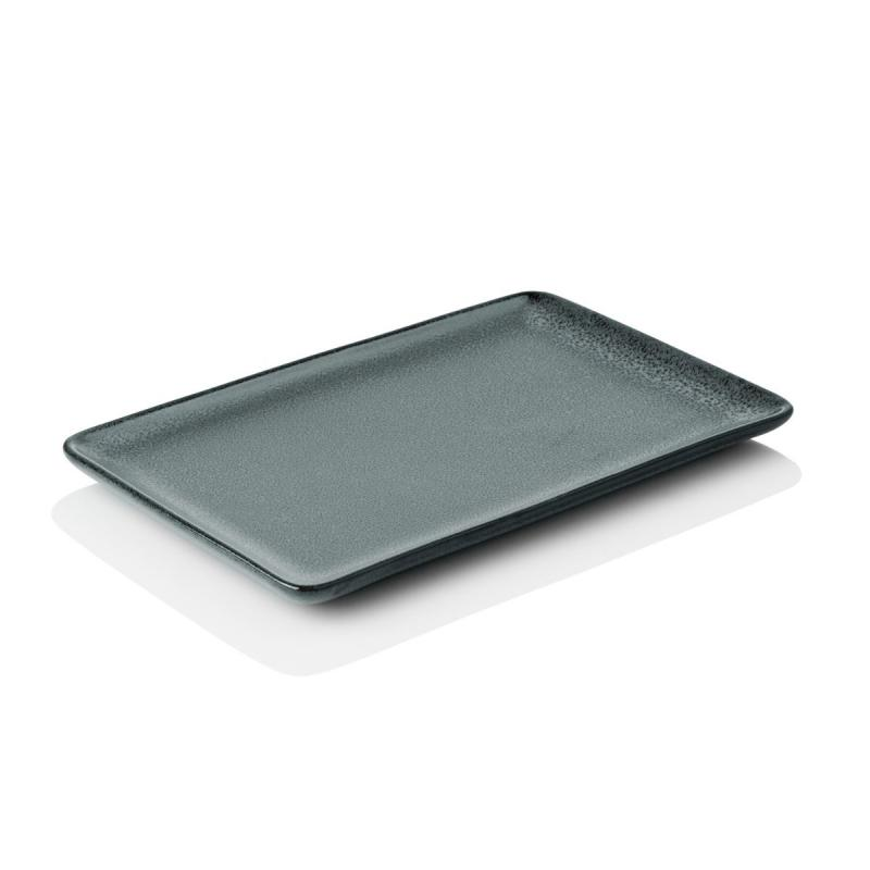 Raw Rectangular Plate, Small, Northern Green