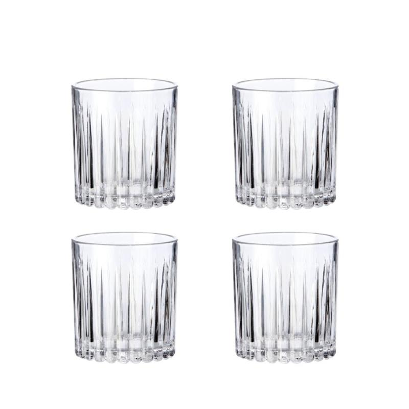 Relief Whisky Glass, Set of 4