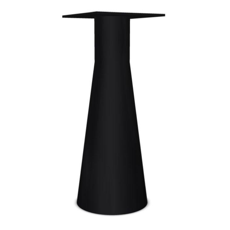 Reverse 42 High Table Base, H109cm, Black