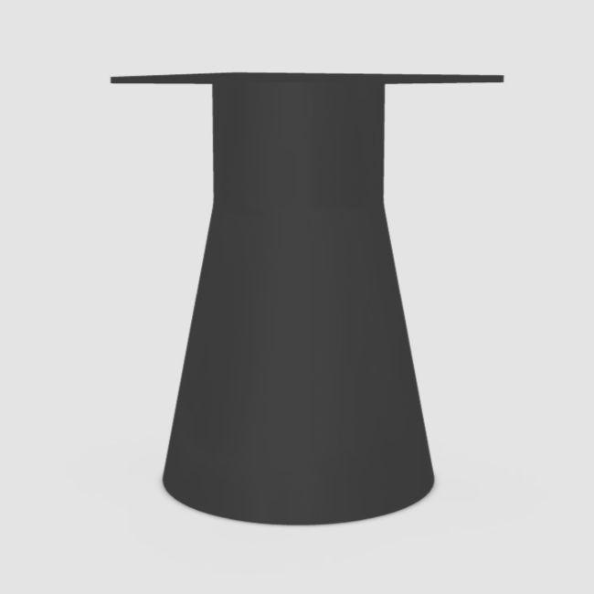 Reverse 50 Table Base, H72.5cm, Black