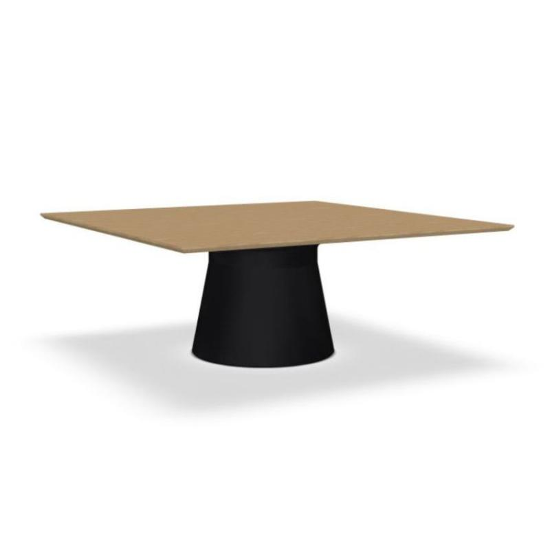 Reverse Conference Table, 190x190cm, Oak Top / Black Base