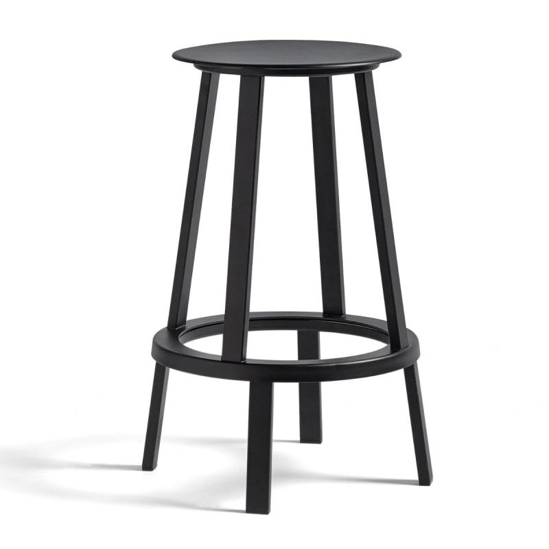 Revolver Bar Stool, Low, Black