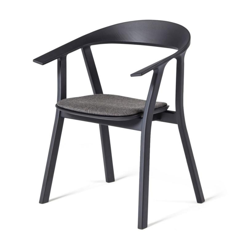 Rhomb Chair, Black Oak Frame / Grey Seat Pad