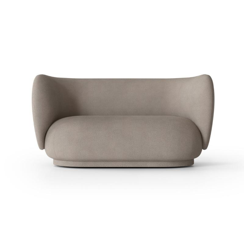 Rico Sofa, 2-Seater, Brushed, Warm Grey