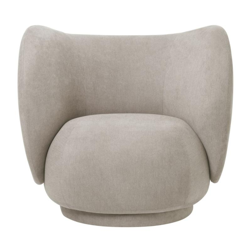 Rico Lounge Chair, Bouclé