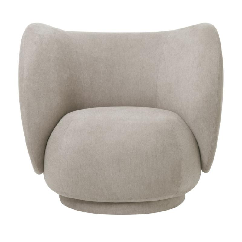 Rico Lounge Chair, Brushed, Sand