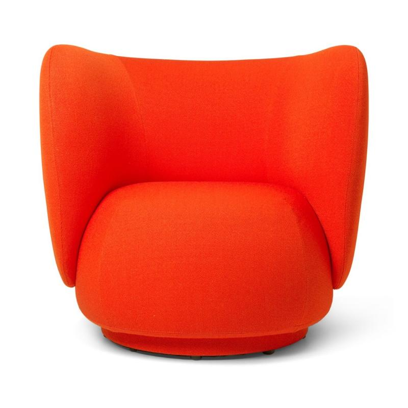Rico Lounge Chair, Vidar, Poppy Red