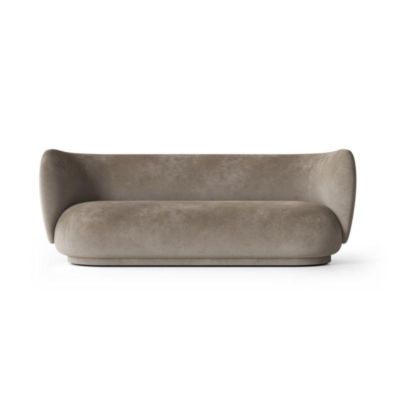 Rico Sofa, 3-Seater, Faded Velvet