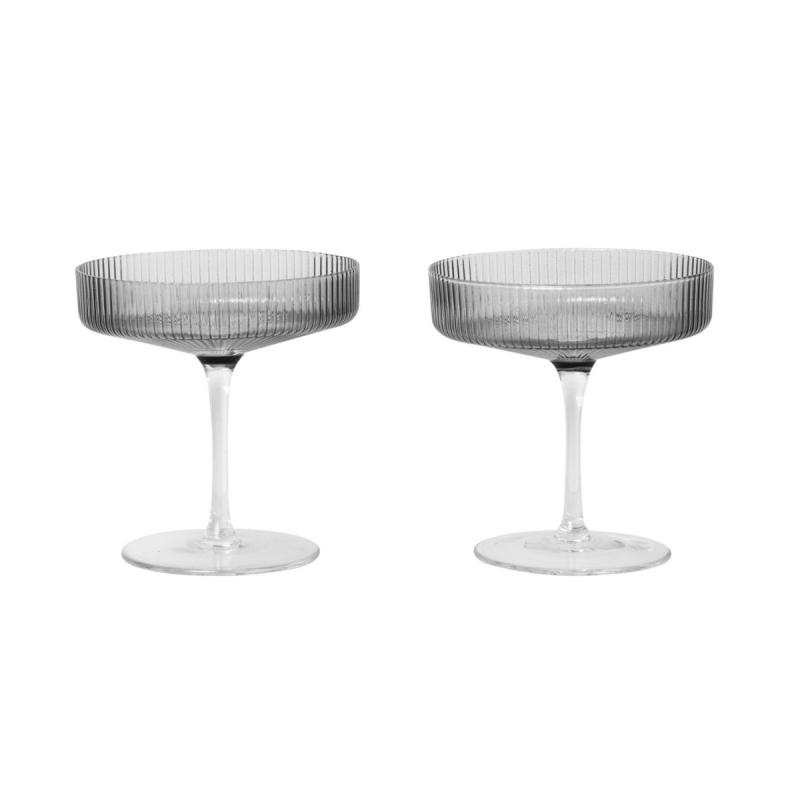 Ripple Champagne Saucers, Set of 2