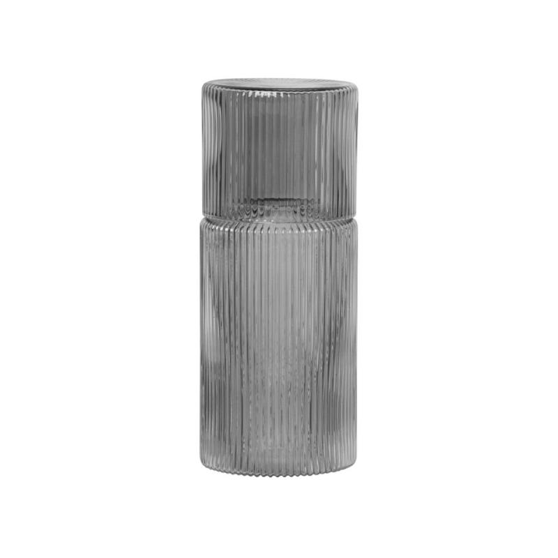 Ripple Small Carafe Set, Smoked Grey