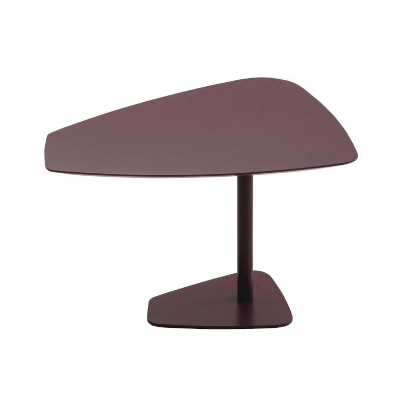 Rock Table, Height-Adjustable, Black MDF Top / Black Base