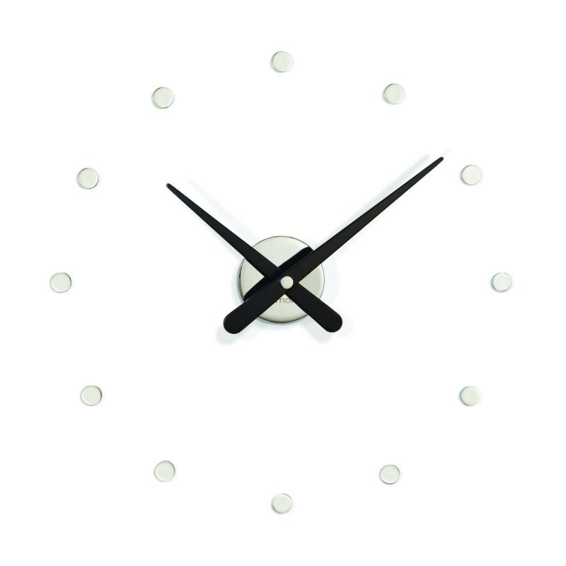 Rodón Mini Wall Clock, L, Chromed / Black