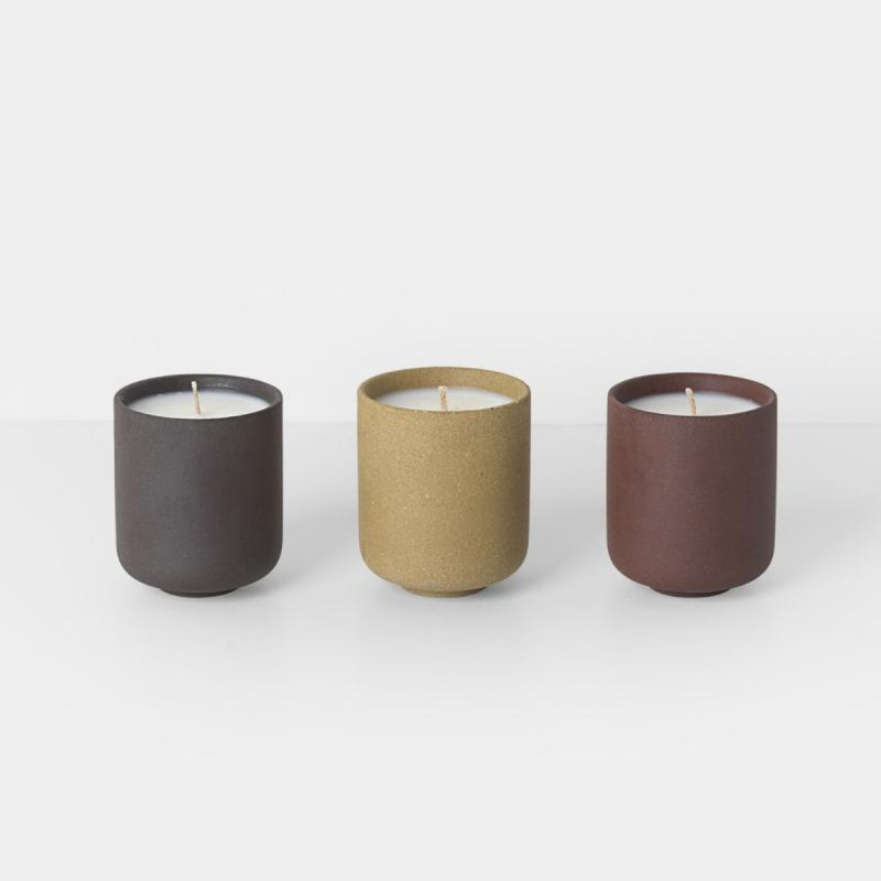 Sekki Scented Soy Candles, Set of 3
