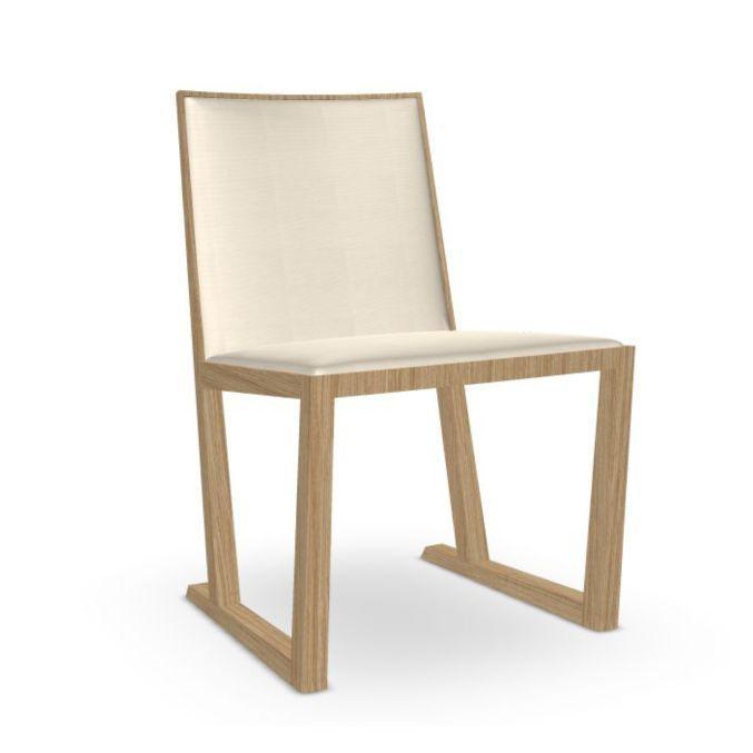 Serena Chair, White Upholstery / Oak Legs