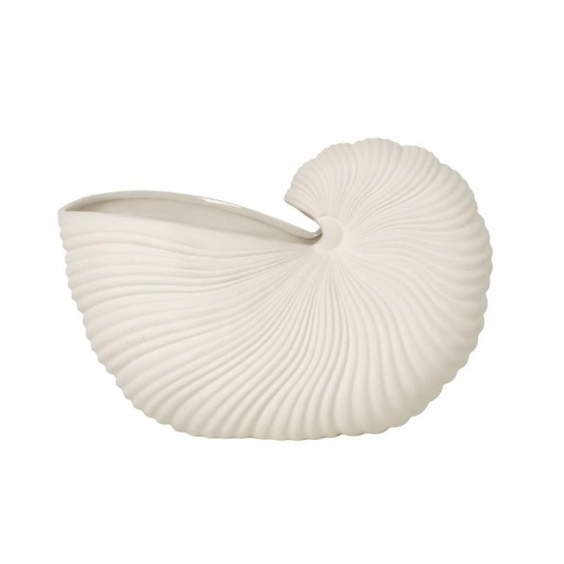 Shell Pot Vase, Off-White