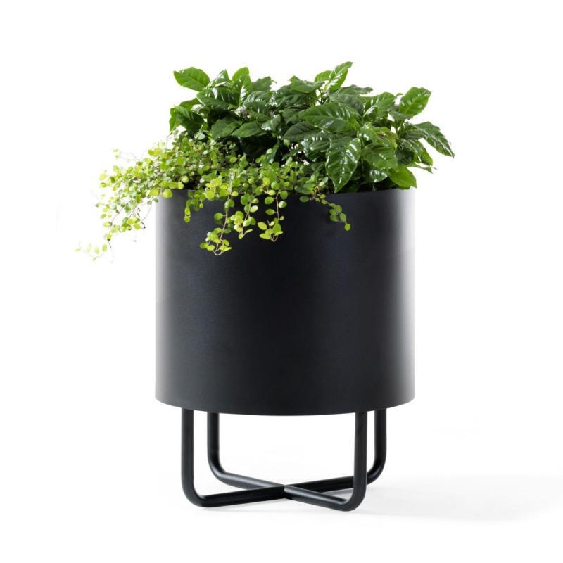 Shima Garden Flowerpot, Ø38cm, Black