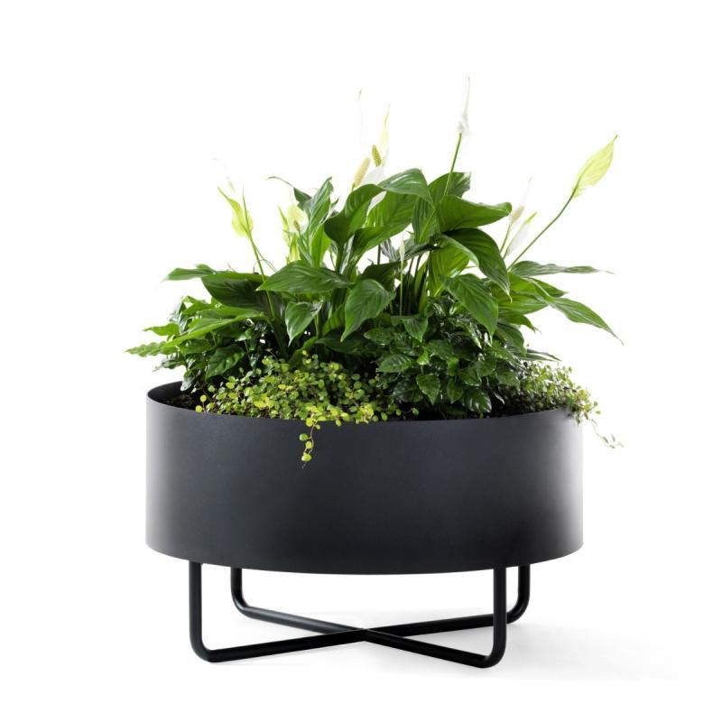 Shima Garden Flowerpot, Ø65cm, Black