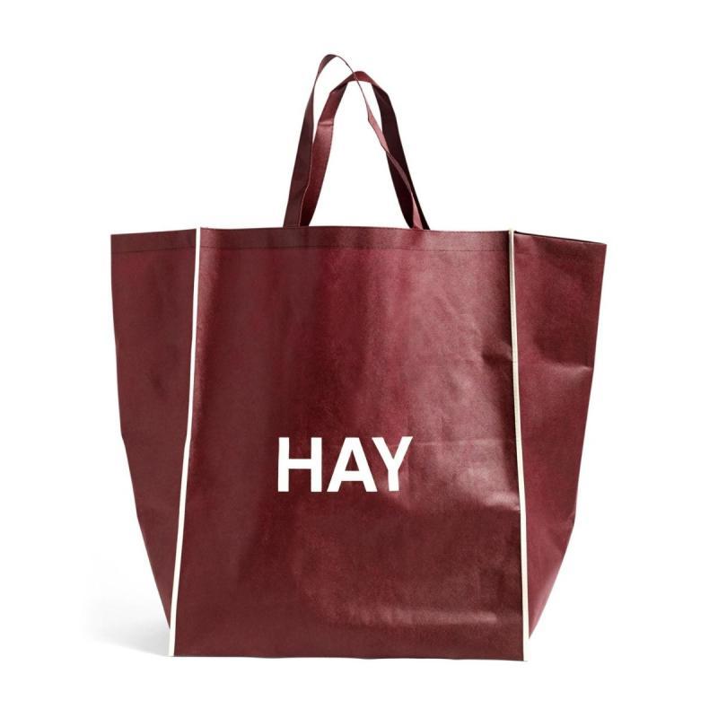 Shopping Bag, L, Burgundy
