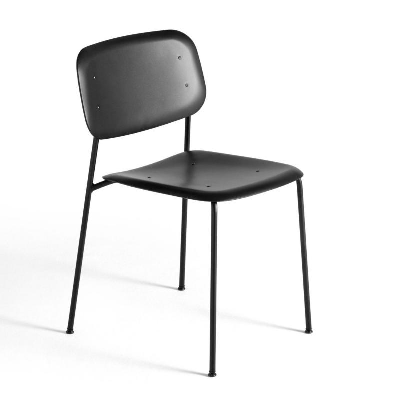 Soft Edge P10 Chair, Black Seat / Black Base