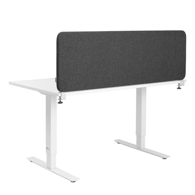 Softline 30 Desk Screen, 600 x 450 mm, Dark Grey
