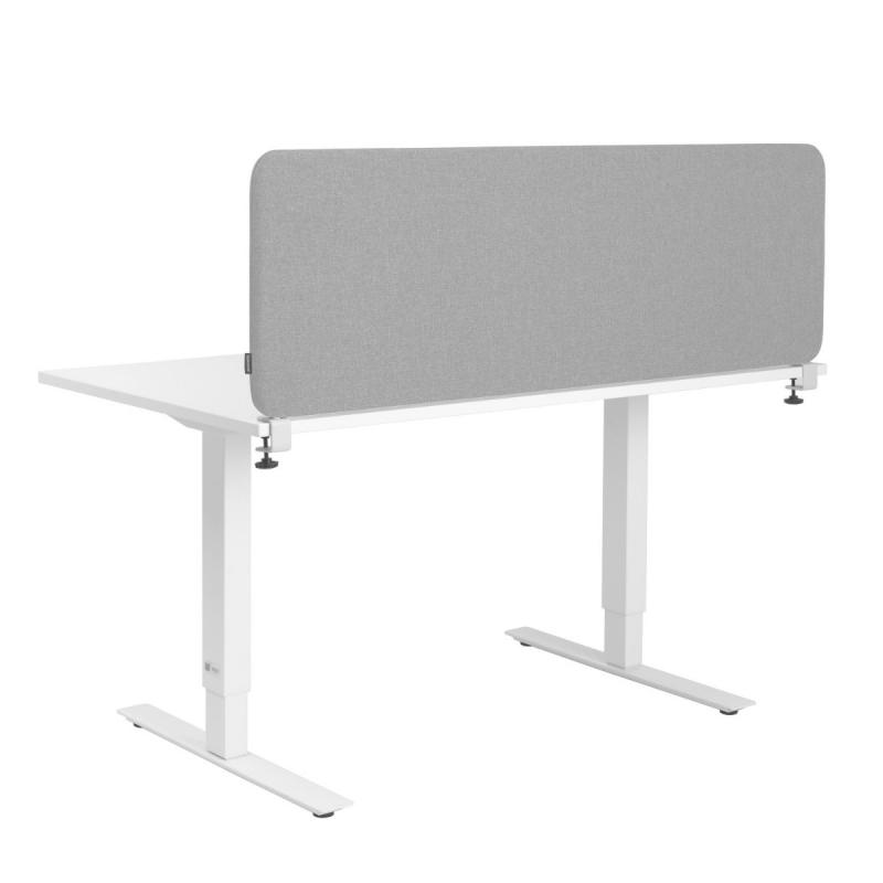 Softline Desk Screen, 800 x 450 mm, Light Grey