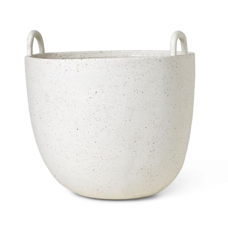 Speckle Pot, Small, Off-White
