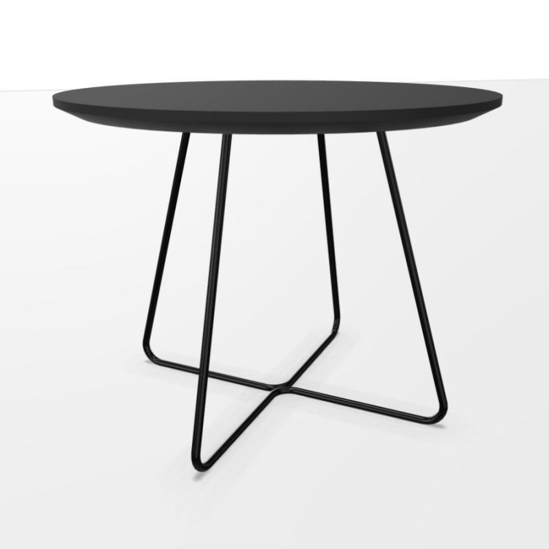 Speed Table, Ø60cm, Black Laminate Top / Black Base