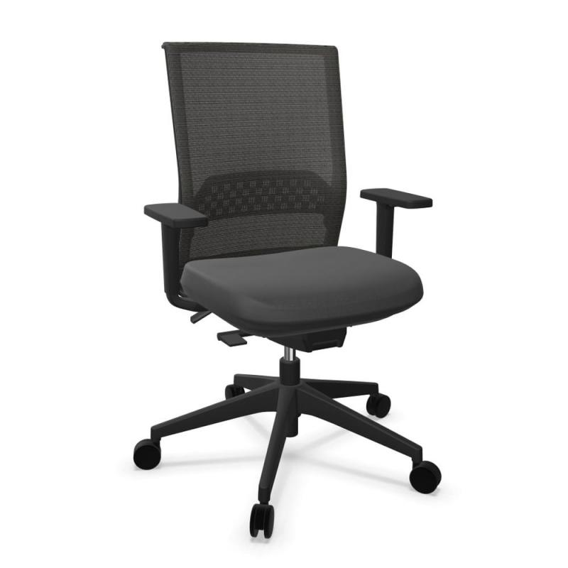 Stay Office Chair, Black Spin Backrest and Seat / Black Base